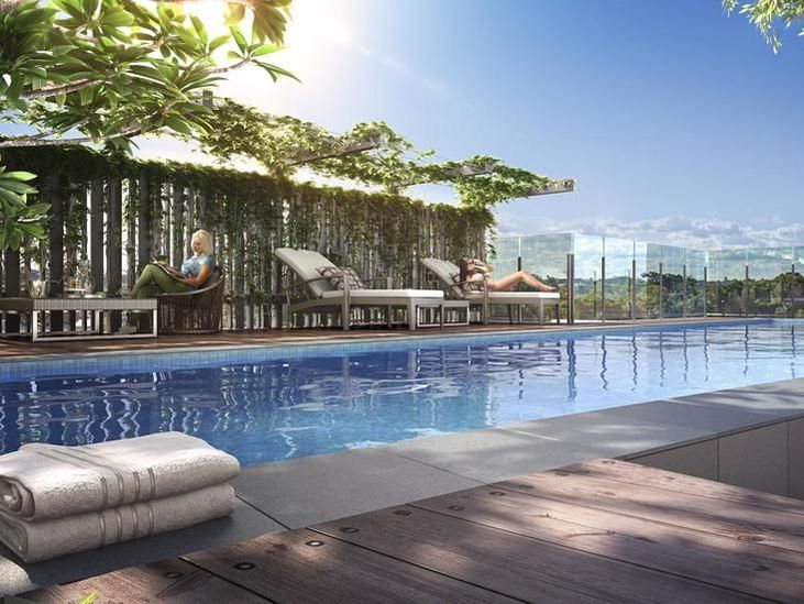 Pool at Alcyone Hotel Residences in Brisbane